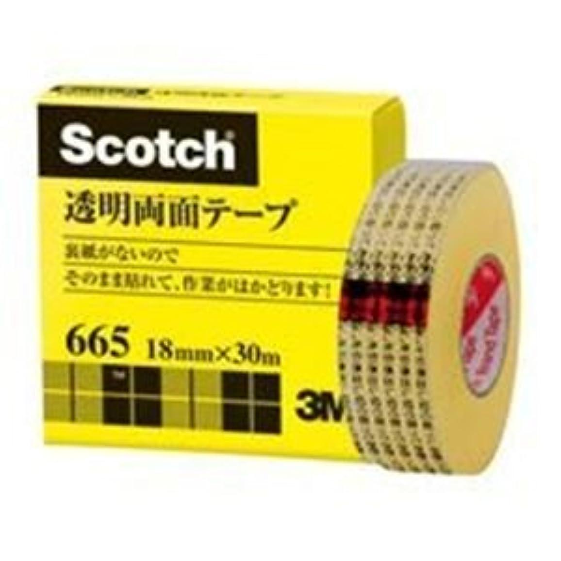 判定シンボル筋肉の(業務用2セット)スリーエム 3M 透明両面テープ 665-1-18 18mm×30m