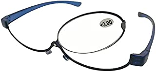TT WARE Womens 180 Rotatable Magnify Glasses Makeup Adjustable Reading Glasses-Blue-1.0