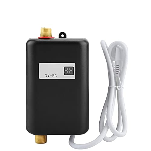 Mini Electric Water Heater, 3000W Instant Tankless Hot Water Heater with...