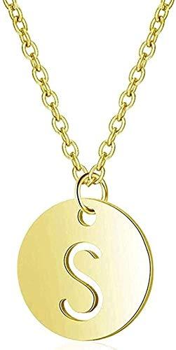 NC110 Collar Collar de Letras Collar de Alfabeto Colgante Collar de Cadena Larga