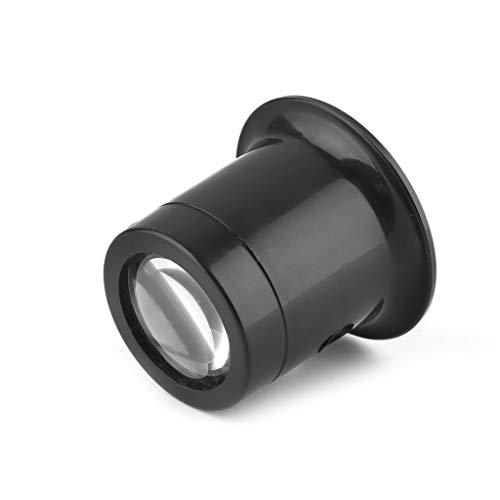 ESden 10-fache Monokularglaslupe für Schmuck, Uhren-Reparaturwerkzeug, Schwarz