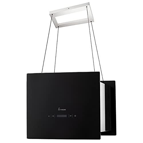 KKT KOLBE/Inselhaube/Dunstabzugshaube / 40cm / Edelstahl/schwarzes Glas/SensorTouch Bedienung / BOX400S