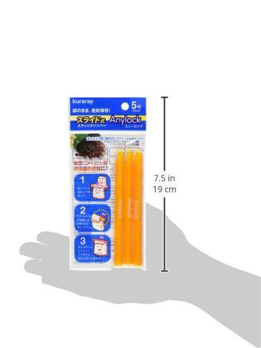 Anylock食材保存クリップ5号3本セットオレンジGMOR-53