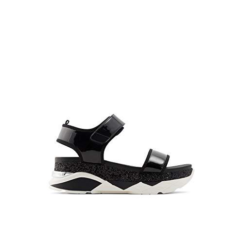 ALDO Women's Zarella Flat Sandal, Black Multi, 9