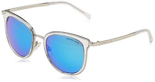 MICHAEL KORS Adrianna I, Gafas de Sol Unisex-Adulto, Blanco (Clear/Silver 110525), 54