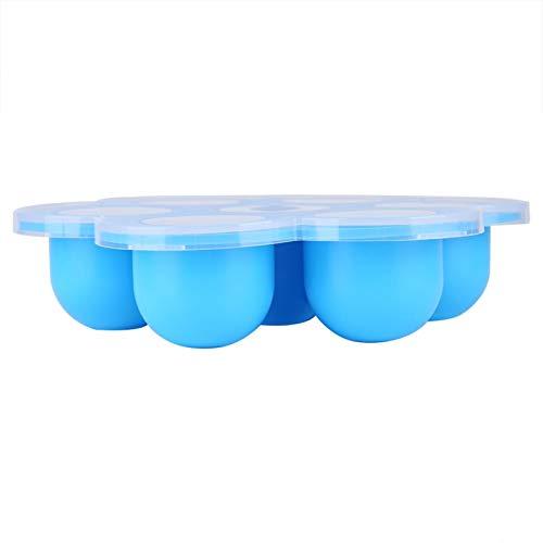 Omabeta Lebensmittel Gefrierschrank Schimmel Lebensmittel Gefrierschalen Silikon Babynahrung Tablett Silikon Lebensmittel Gefrierfach Tablett Lebensmittel Gefrierschrank(Sky Blue)