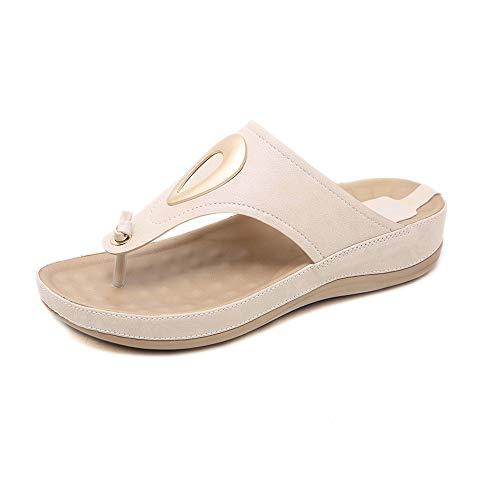 Sandalias De Metal Con Fondo Grueso Y Zapatillas Ligeras De Talla Grande