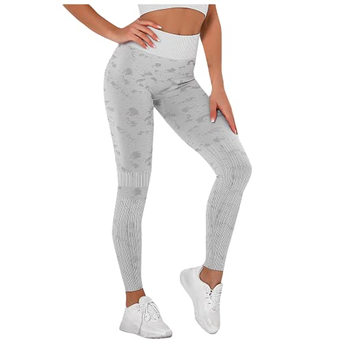 QTJY Medias sin Costuras de Cintura Alta para Levantar la Cadera, Flexiones, Fitness para Mujeres, Correr, Pantalones de Yoga, Pantalones elásticos energéticos C L