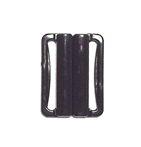 Bikiniverschluss schwarz 25 mm Stegbreite