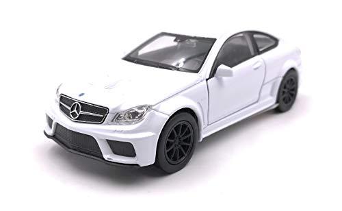 Onlineworld2013 Modellauto Amg C63 Black Series Weiss Auto Maßstab 1:34-39 (lizensiert)