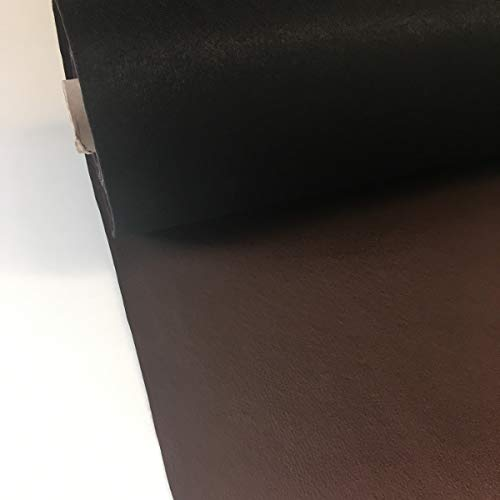 Tela por metros de polipiel para tapizar - Tapicería - Ancho 140 cm - Largo a elección de 50 en 50 cm | Marrón oscuro