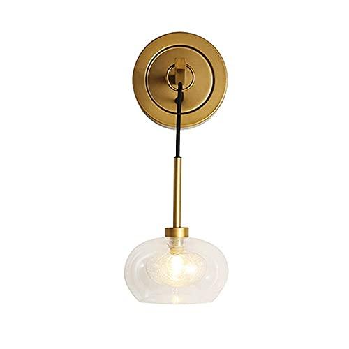 JPL Lámparas novedosas, lámpara de aplique de pared geométrica moderna Siet, lámpara de pared de metal dorado con pantalla de vidrio, accesorio de iluminación de pared interior G9, luces de montaje e