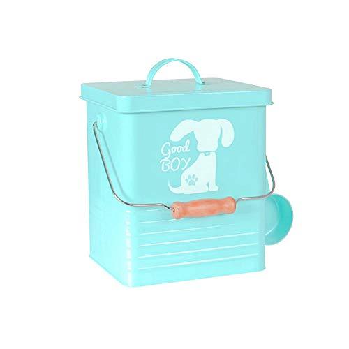 FYJHRR Pets Feed Cat/Perro Contenedor de Almacenamiento de Alimentos con Cuchara Dispensador de Cereales Caja de Almacenamiento Armarios de Cocina Organizadores