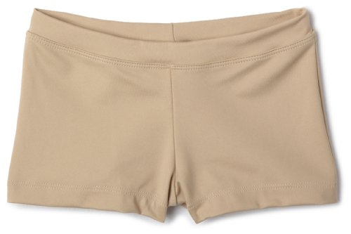 Capezio girls Boys Cut Low Rise Short, Nude, Intermediate (6-8)