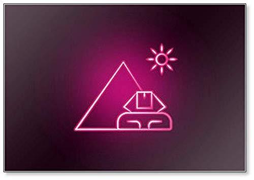 Kühlschrankmagnet, Motiv Ägypten Neonillustration