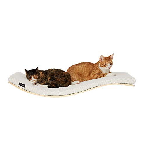 COSY AND DOZY Katze Wandliege | Katzenliege | Katzenbett | Katzen | 90 cm x 41 cm | Ahorn Holz