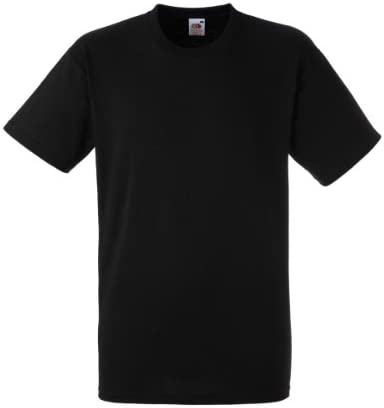 Fruit of the Loom Camiseta Manga Corta Hombre Negra Heavy