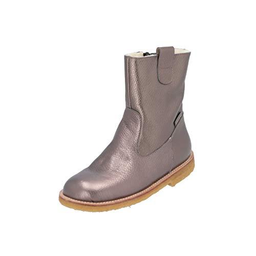 Angulus Boot Wool Kinder Mädchen Stiefel Braun Schnür-Stiefelette Winter, Größe:EUR 31