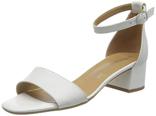 Tamaris Damen 1-1-28253-24 Riemchensandalen, Weiß (White Leather 117), 39 EU