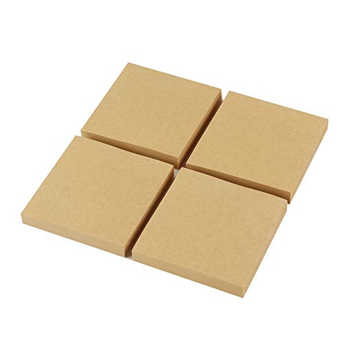 Eagle Sticky Notes, 3 X 3 Inch, 100 Sheets/Pad, 4 Pads (Kraft Paper)