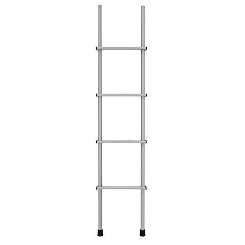 RecPro RV Bunk Ladder 60' | Black or Silver Color Options | Optional Mounting Brackets | Aluminum (Silver, No Mounting Brackets)