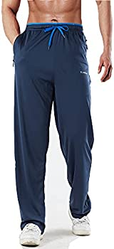 Toyoocl Training-Workout Breathable Open Bottom Men's Sweatpants