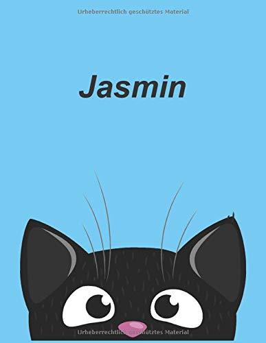 Personalisiertes Notizbuch: Jasmin - über 100 Seiten, liniert im A4+ Format