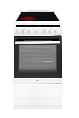 Amica 508CE2MSW 50cm Electric Cooker with Ceramic Hob - White