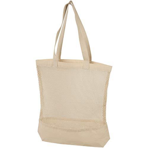 Mesh Cotton Tote Bag - Natural