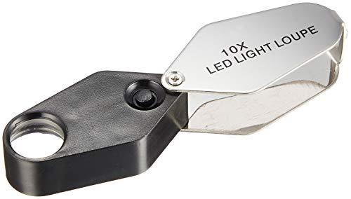 TSK 高倍率ルーペ 倍率10倍 レンズ径16mm LEDライト付き DO-10LED