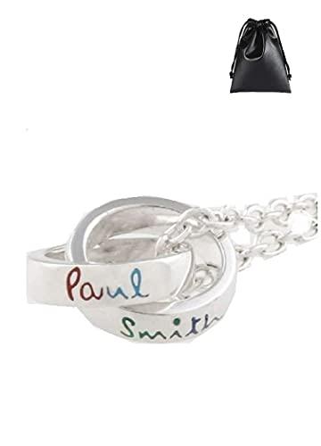 セット商品 ポールスミス Paul Smith ダブルリング ネックレス + PUレザーブランド保存バッグ
