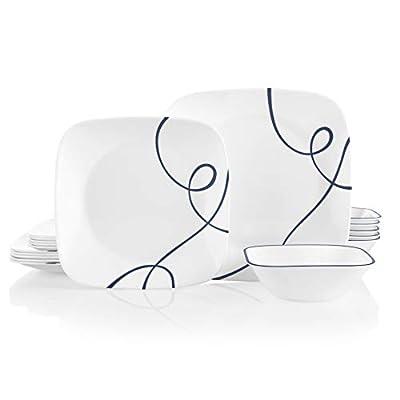 Corelle 18-Piece Service for 6, Chip Resistant Dinnerware Set, Lia