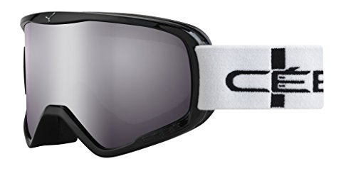 Cébé Skibrille Striker Light Rose Flash Mirror, Schwarz Stripes, L