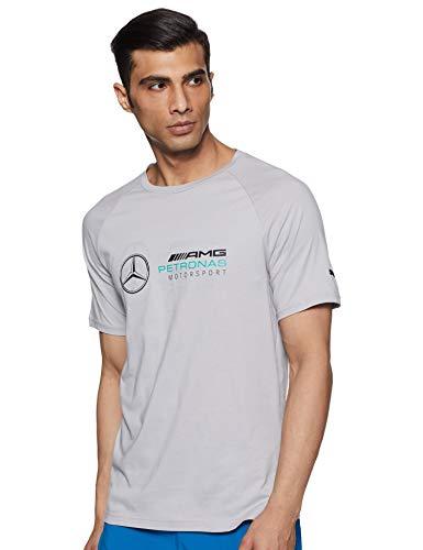 MERCEDES AMG PETRONAS Herren Mercedes Amg Logo Tee, XXL T-Shirt, Silber (Silver Silver), (Herstellergröße: XX-Large)