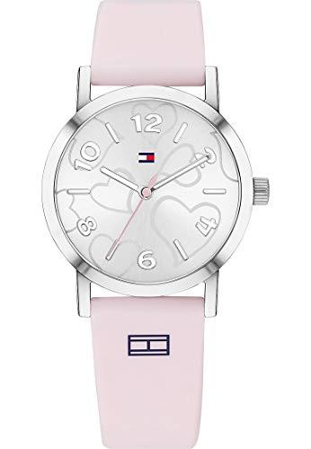 Tommy Hilfiger - Reloj de Pulsera analógico para Mujer, Cuarzo, Talla única, Color Blanco y Rosa