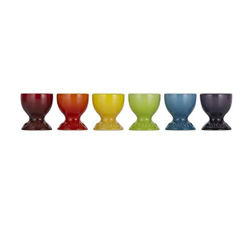 Le Creuset Set de 6 coquetiers en céramique, rainbow