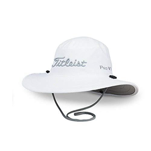 Titleist Golf 2019 Tour Aussie Full Brim Sun Bucket Hat/Cap (White/Grey)