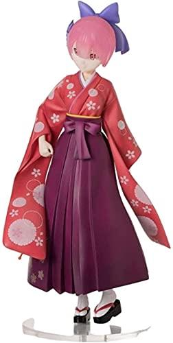 XIAOYANG Figura de Anime Re: Vida Cero en Otro Mundo Ram Rem WA Linda Figura de Acción de PVC Modelo Muñeca Juguetes 23 CM Regalos de Anime,Juguetes de Niños,Figuras Pop,Anime Nendoroid
