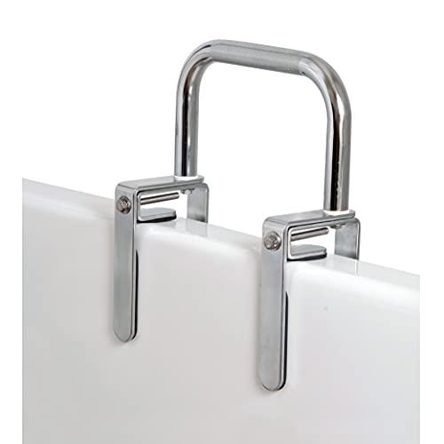 Carex Bathtub Rail and Grab Bars for Bathtubs and Showers - Bathtub Grab Bar, Shower Handle & Bath Tub Bar Clamps for Seniors & Elderly, Chrome