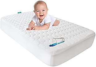 """Crib Mattress Pad Cover,Toddler Waterproof Crib Mattress Protector, Machine Washable & Dryer Fit Baby Bed Mattress Protector(Standard Size 52"""" x 28"""")"""