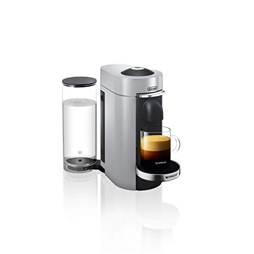 De'Longhi Nespresso Vertuo Plus | ENV 155.S Kaffeekapselmaschine | Perfekte Crema dank Centrifusion Technologie | Inkl. Willkommenspaket mit 12 Kapseln | 1,7 L | silber