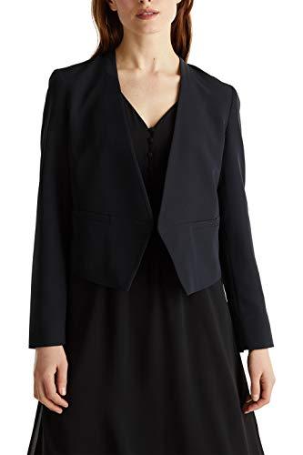 ESPRIT Collection Damen 040EO1G308 Blazer, 001/BLACK, 38