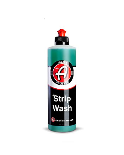 Adam's Strip Car Wash Soap - Sealant & Car Wax Remover Shampoo | Thick Suds For Use In Car Cleaning Kit, Foam Cannon, Foam Gun, Sponge, Mitt, Chamois | Safe For Paint Glass Wheel Tire Ceramic Coating