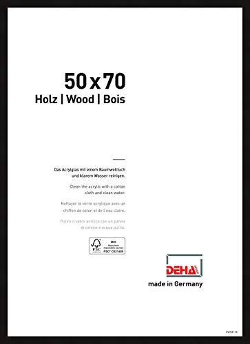 DEHA Holz Bilderrahmen Fontana, 50x70 cm, Schwarz