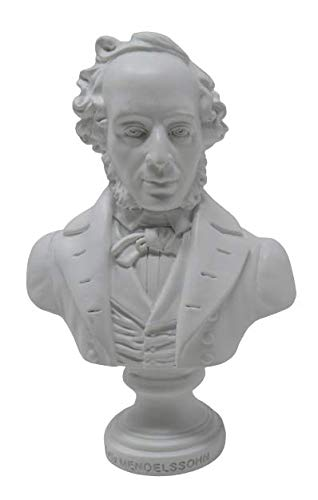 Reproduktion Felix Mendelssohn Büste weiß 13/8,5/5,5 cm