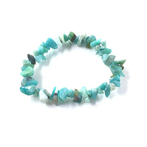 Baostic Armschmuck Natural Gem Stone Bracelet Stretch Chip Beads Nuggets Garnet Crystal Coral Quartz...