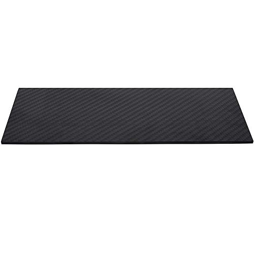 LOKIH Carbonplatte Karbon Platte Beidseitig Kohlefaserplatte Karbon Stärke 1Mm 1.5Mm,200mmx300mmx1.5mm
