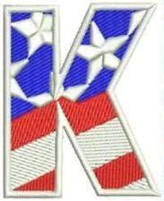Sturgis-Mid-West K Alphabet Letters of US Luxury Philadelphia Mall goods Flag Iron Pat Small on