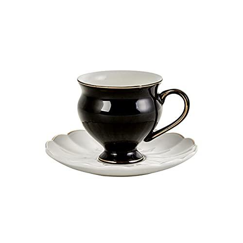 Karaca Black Swan Kaffeeservice Fur 6 Personen, 6x Espressotasse und 6x Untertasse, Robuste Mokkatasse, Dicker Trinkrand, Espressotassen, Porzellan Farbe Schwarz