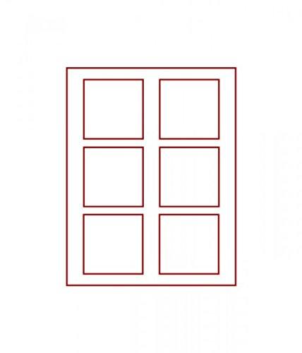 LINDNER Das Original d-Box FUMÉ à 6 alvéoles carrés 85 x 85 mm pour Monnaies/médailles ou Autres Objets de Collection